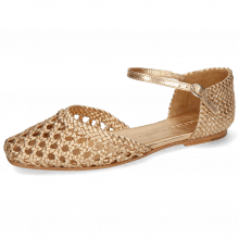 Sandały Melly 9 Open Woven Sheep Rose Gold