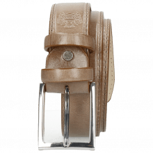 Paski Larry 1 Light Grey Classic Buckle