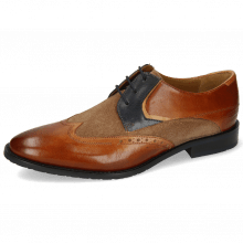 Derby Victor 9 Venice Wood Suede Pattini Roccia Navy Sand