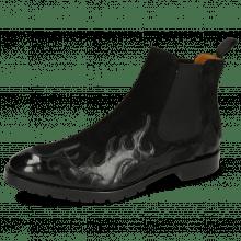 Botki Tom 29 Flame Black Suede Pattini Black