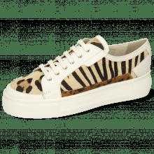 Sneakersy Amber 2 Flex White Hairon Tanzania Zebra Leo