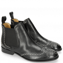 Botki Sally 45 Berlin Perfo Black