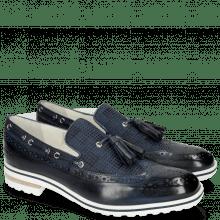 Mokasyny Eddy 16 Navy Textile Dots Blue
