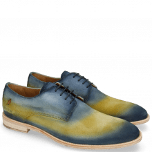 Derby Ryan 3 Suede Pattini Jute Shade Navy Yellow