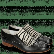 Mokasyny Sally 95 Glove Nappa Black Hairon Young Zebra