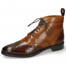 Botki Betty 13 Crock Mid Brown Wood