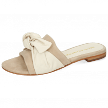 Mule Hanna 65 Nappa Off White Beige Footbed Suede