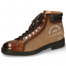 Botki Trevor 33 Wood Suede Rubber Print Paris