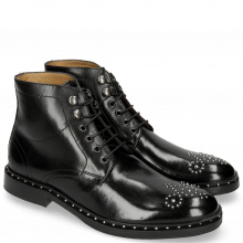 Botki Sally 109 Black Rivets