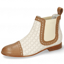 Botki Sally 128 Nappa Glove Tan Perfo Cream