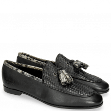 Mokasyny Scarlett 44 Nappa Glove Black Weave Black Snake