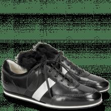Sneakersy Pearl 2 Black Lycra Fur Saderkan Silver