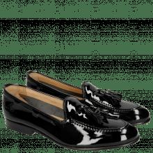 Mokasyny Sally 11 Patent Black Tassel Black