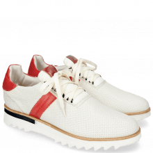 Sneakersy Hank 1 Nappa Stretch Perfo White