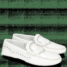 Mokasyny Caroline 6 Soft Patent White