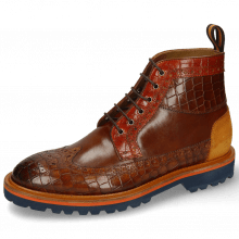 Botki Matthew 9 Crock Mid Brown Winter Orange Suede Pattini