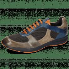 Sneakersy Blair 12 Pisa Grigio Navy Stretch Net Dark Grey