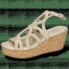 Sandały Hanna 58  Woven Pearl Cork