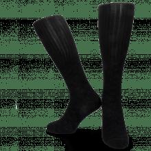 Skarpety Jamie 1 Knee High Socks Black Blue