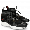 Sneakersy Mandy 1 Rubber Milled Net Black Hairon Breeze Gold