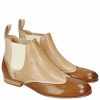 Botki Sally 19 Salerno Dark Tan Off White Perfo Cappu