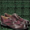 Oksfordki Sally 38 Deep Pink Patent Oriental Suede Chilena
