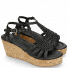 Sandały Hanna 55 Woven Black Cork