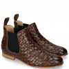 Botki Sally 25 Woven Nappier Brown