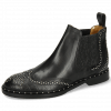 Botki Sally 45 Big Croco Black Rivets