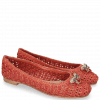 Baleriny Kate 5 Woven Red Accessory Bee