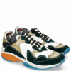 Sneakersy Flo 1 Suede Pattini Verde Milled White Olive Stretch Nappa Navy