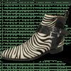 Botki Elvis 45  Hairon Zebra Black White