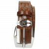 Paski Larry 1  Crock Mid Brown Sword Buckle