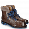 Botki Trevor 19 Crock Stone Electric Blue Fur Taupe