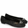Baleriny Kate 5 Woven Black Raffia Accessory Bee