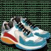 Sneakersy Flo 1 Suede Pattini Aqua Milled Perfo White Light Grey Suede Pompe