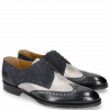 Derby Kane 5 Navy Grafi Gunmetal Suede Pattini Navy