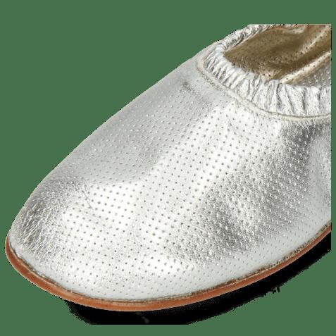Baleriny Iris 2 Nappa Metallic Perfo Silver Super Flex