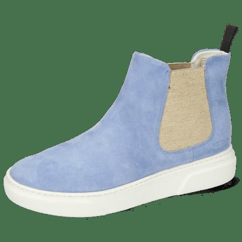 Botki Hailey 2 Parma Suede Greek Blue Elastic Lino