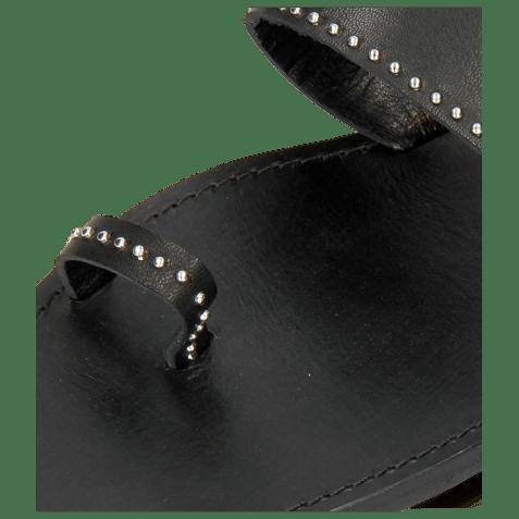 Mule Elodie 19 Salerno Black Rivets