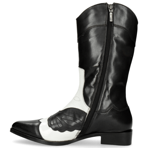 Kozaki Marlin 36 Black Soft Patent White Stitching Black