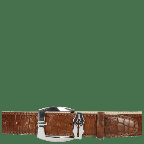 Paski Larry 1  Crock Mid Brown Sword Buckle