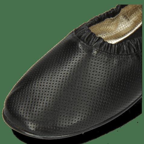 Baleriny Iris 2 Nappa Perfo Black Super Flex