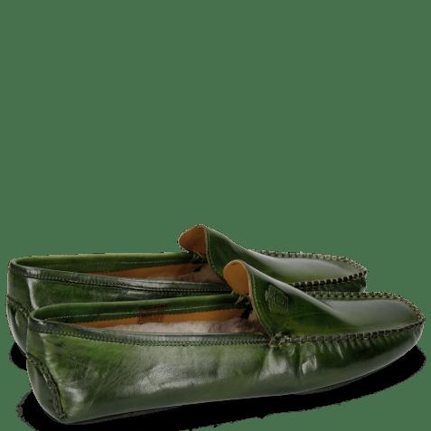 Mokasyny Home Donna Ultra Green Sock Fur