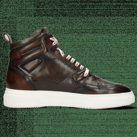 Sneakersy Harvey 51 Monza Mid Brown Wood Nappa Mogano