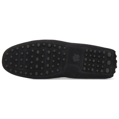 Mokasyny Nelson 16 Suede Pattini Navy Dots