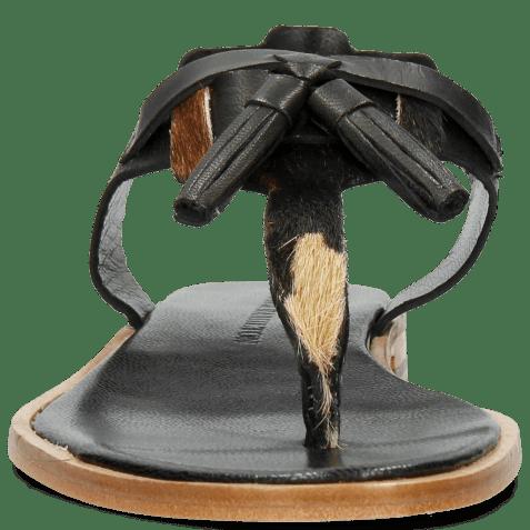 Sandały Sandra 34 Salerno Black Hairon Beige