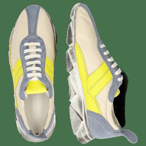 Sneakersy Briana 1 Suede Fante Funky Beige Fluo Yellow