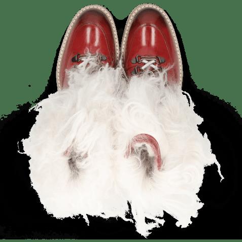 Botki Amelie 73 Ruby Fur Mongolian White