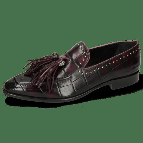 Mokasyny Emma 11 Turtle Viola Shade Black Rivets